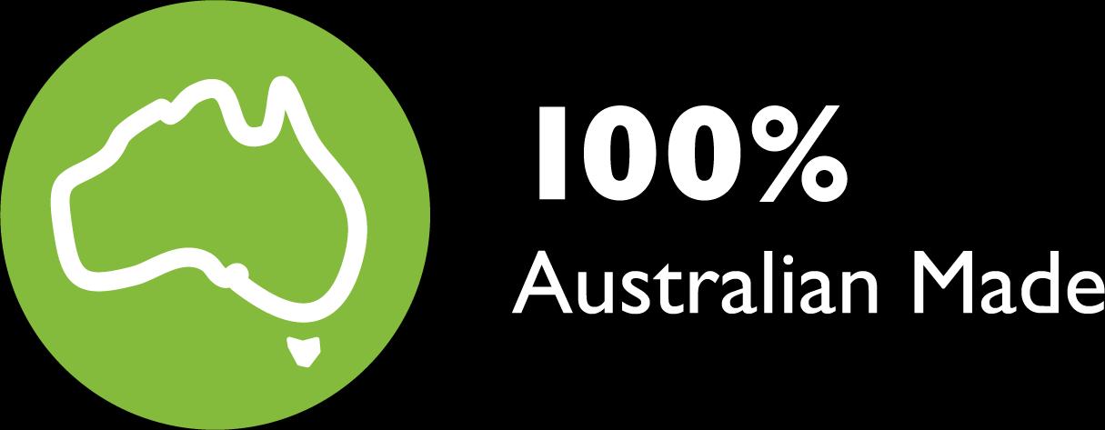 100% Percent Australian Made